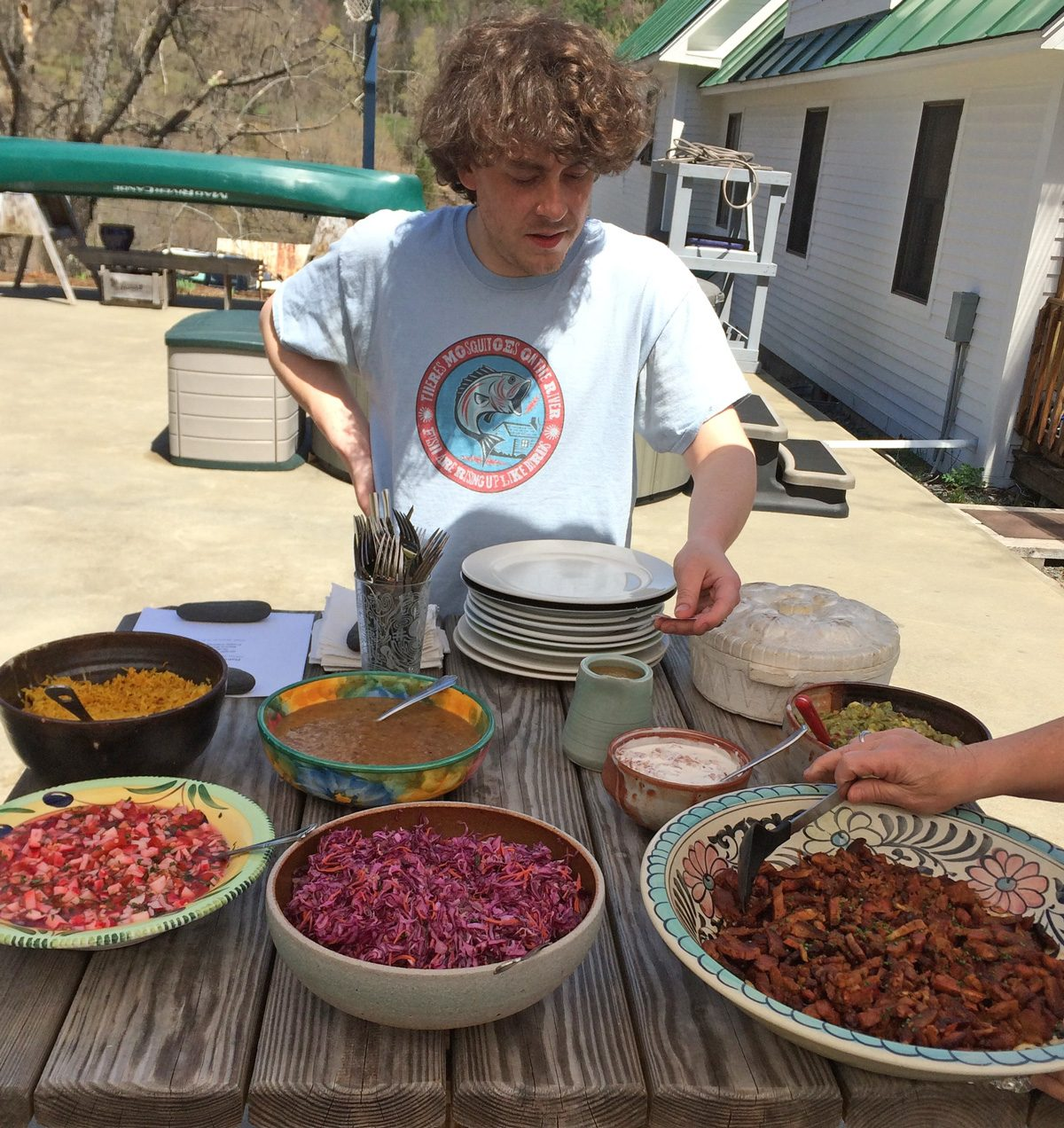 Chef Spencer R.B. Cone caters the Vermont workshop lunches.